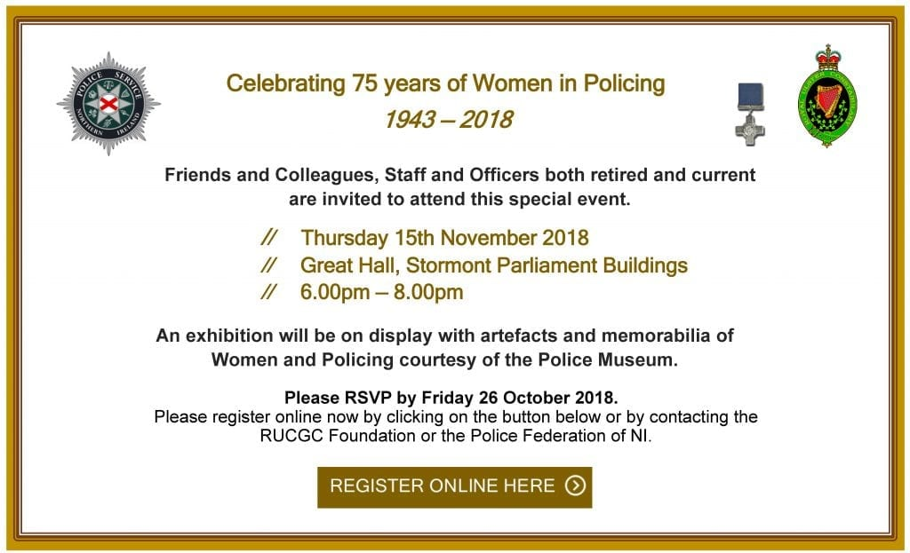 Celebrating 75 years of Women in Policing - GUEST Invite